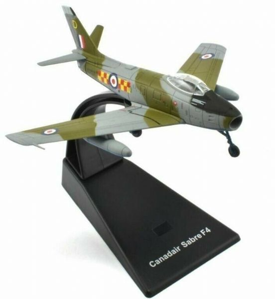 Atlas JK08 1/100 Scale Canadair Sabre F4 Jet Fighter RAF Royal Air Force